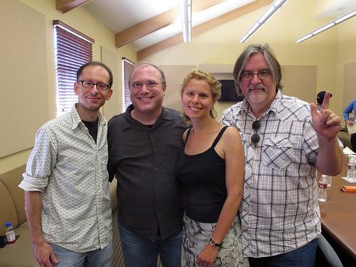 David Cohen, me, Sarah Cohen, Matt Groening